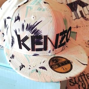 Fitted 59/50 Kenzo hat shades of blue
